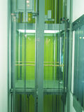 Green lift at n ight royalty free stock photography