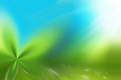 Green ligh blue background nature friendly Stock Images