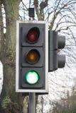 Green light. On traffic light Stock Photos