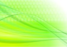 Green light abstract digital vector illustration