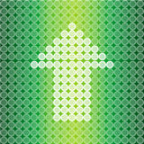 Green light Arrow background Royalty Free Stock Photography