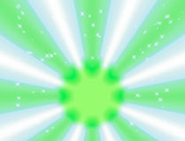 Green light bokeh and white beam abstract background Stock Photography