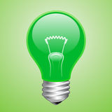 Green light bulb Royalty Free Stock Photography