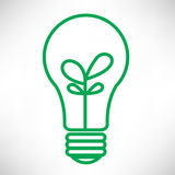 Green light bulb Royalty Free Stock Images