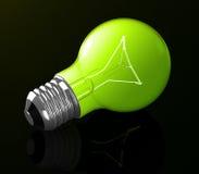 The green light bulb Stock Image