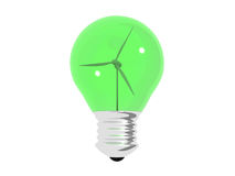 Green light bulb ecology concept Royalty Free Stock Image