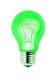 Green light bulb isolated on white background Stock Photography