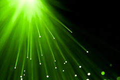 Green light burst. Royalty Free Stock Images