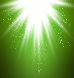 Green light burst Royalty Free Stock Image