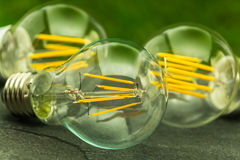 Green light,  E27 LED bulbs with various chips Royalty Free Stock Photos