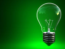 Green light eco bulb Stock Photography