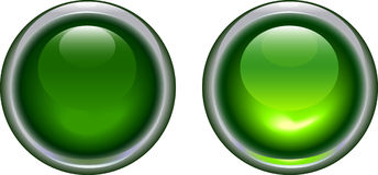 Green light icons Stock Photos