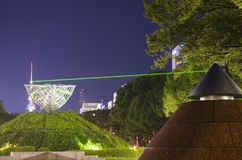 Green light laser beam stock images