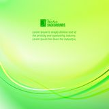 Green light lines background. Royalty Free Stock Photo