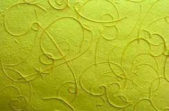 Green light mulberry paper with line wood pulp Royalty Free Stock Photography