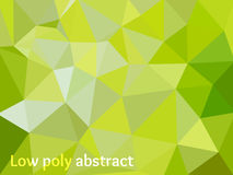 Green Light Polygonal Mosaic Background Stock Images