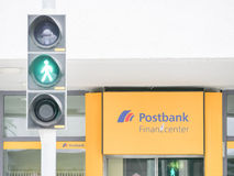 Green light for the Postbank Stock Photo