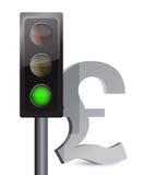 Green light on pound concept. Illustration design over white Stock Photo