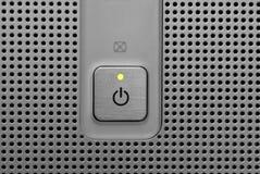 Green light power button Royalty Free Stock Photos