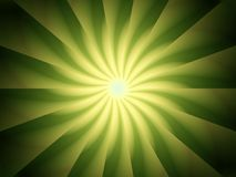 Green Light Rays Spiral Design Stock Images