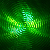 Green light ripple in water Stock Photo