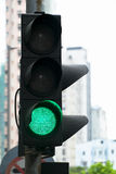 Green light sign for transportation Royalty Free Stock Image