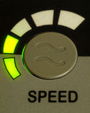 Green light speed button Royalty Free Stock Photos