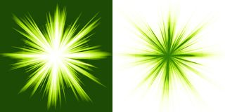 Green light, star burst Royalty Free Stock Image