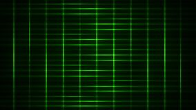Green Light Streaks Grid Loop Motion Background