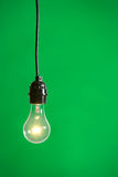 Green Light in the studio. Green Light isolated hanging in the studio Royalty Free Stock Photo
