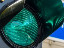 Green light at a traffic light Stock Images