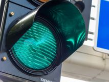 Green light at a traffic light Royalty Free Stock Images