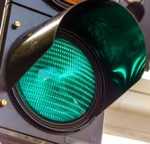 Green light at a traffic light Stock Photos