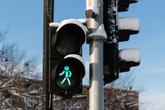 Green light. Traffic lights with the green light Royalty Free Stock Photo