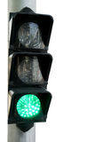 Green light ,Traffic lights on white isolated Stock Image