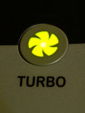Green light turbo button as background Royalty Free Stock Images