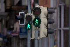 Green light in urban street Royalty Free Stock Image