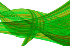 Green light wave abstract background royalty free illustration
