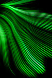 Green Light Wave. A green light wave, created with a hoop, rgb led strip and a fisheye lens Stock Photos