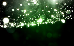 Green light wave mesh with particle dust. Abstract background Royalty Free Stock Photos
