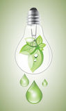 Green lightbulb Royalty Free Stock Photography