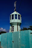 Turquoise lighthouse, Prickly Point royalty free stock photography
