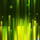 Green lighting lines city Stock Image