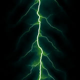 Green lightning Stock Photo