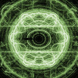 Green Lightning Circle Fractal Art Concept With Shining Royalty Free Stock Photos