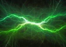 Plasma power electricity. Green lightning, plasma power electricity royalty free illustration
