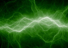 Green lightning strike Stock Photos