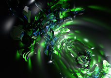 Green lights. A Study of Form&Colors, rendered in Bryce Royalty Free Stock Images