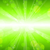 Green lights background Stock Photos