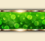 Green lights background Royalty Free Stock Photos
